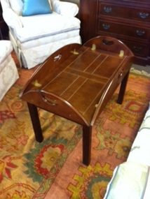 SOLD Bombay Butler Coffee Table (sides Fold Down) $170