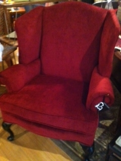 Dark Red Wingback Chair