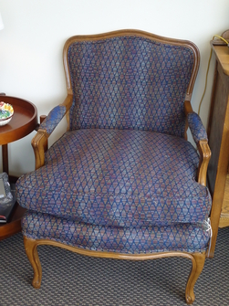 Louis Xv Style Arm Chair Navy
