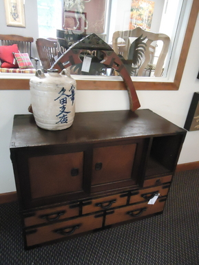 Antique Tansu Chest Entertainment Center