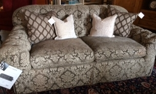 Nancy Corzine Brin Sofa In Gray Stroheim Amp Roman Fabric