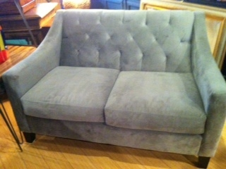 Gray Microfiber Loveseat From Macy S