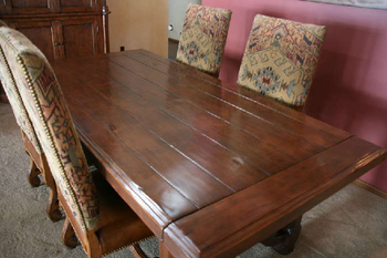 Woodland Dining Table With 4 Side Chairs U0026 2 Arm Chairs